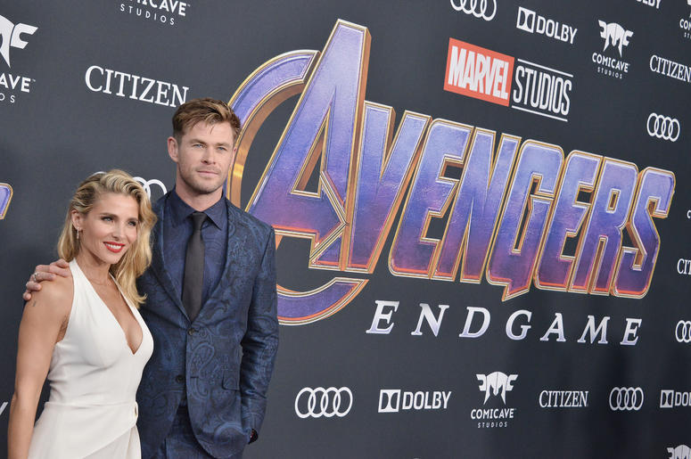 """(L-R) Elsa Pataky and Chris Hemsworth at Marvel Studios' """"Avengers: Endgame"""" World Premiere held at the Los Angeles Convention Center in Los Angeles, CA on Monday, April 22, 2019."""