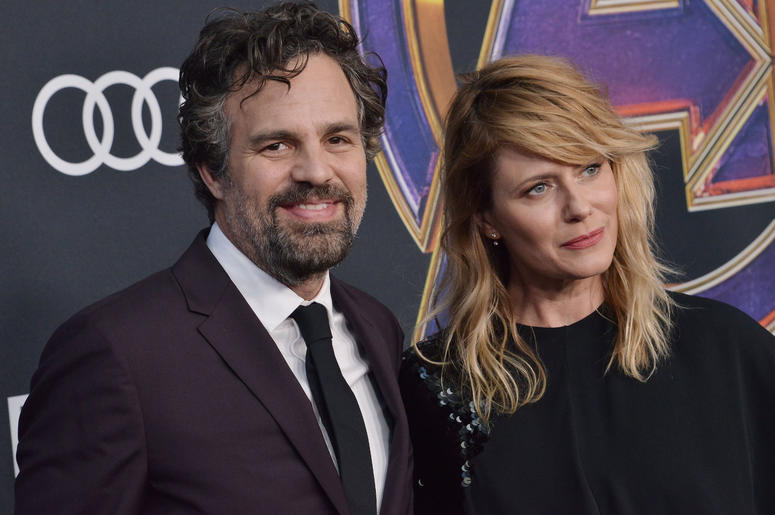 """(L-R) Mark Ruffalo and Sunrise Coigney at Marvel Studios' """"Avengers: Endgame"""" World Premiere held at the Los Angeles Convention Center in Los Angeles, CA on Monday, April 22, 2019."""