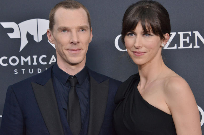 """(L-R) Benedict Cumberbatch and Sophie Hunter at Marvel Studios' """"Avengers: Endgame"""" World Premiere held at the Los Angeles Convention Center in Los Angeles, CA on Monday, April 22, 2019."""