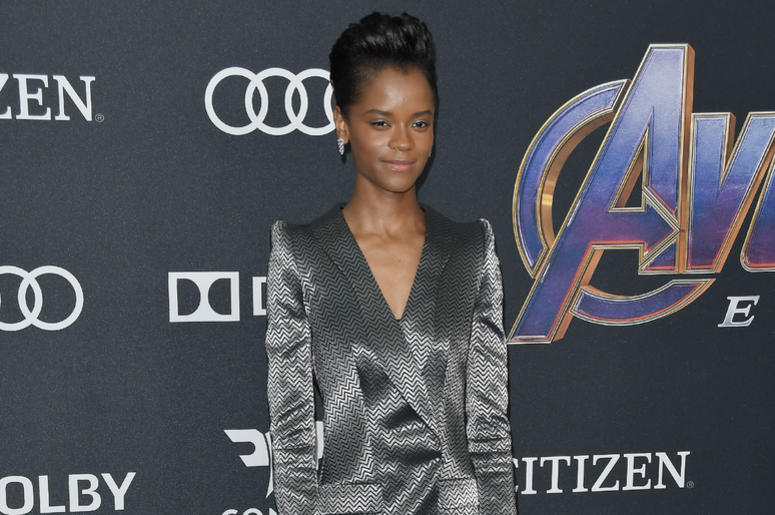 """Letitia Wright arrives at Marvel Studios' """"Avengers: Endgame"""" World Premiere held at the Los Angeles Convention Center in Los Angeles, CA on Monday, April 22, 2019."""