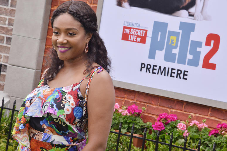 Tiffany Haddish arrives at the Universal Pictures THE SECRET LIFE OF PETS 2 Los Angeles Premiere held at the Regency Village Theatre in Westwood, CA on Sunay, June 2, 2019.