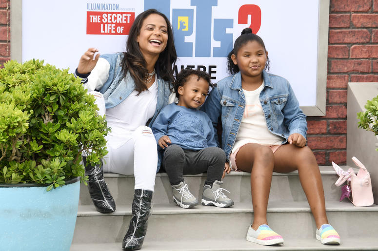 Christina Milian and Kids at the Universal Pictures THE SECRET LIFE OF PETS 2 Los Angeles Premiere held at the Regency Village Theatre in Westwood, CA on Sunay, June 2, 2019.