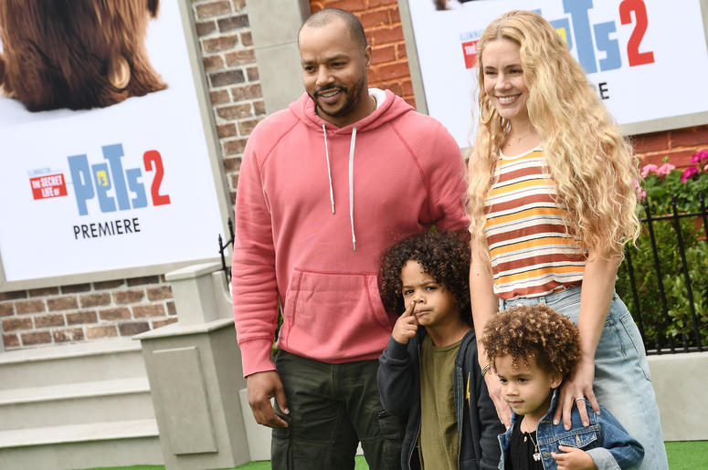 Donald Faison, CaCee Cobb and Sons at the Universal Pictures THE SECRET LIFE OF PETS 2 Los Angeles Premiere held at the Regency Village Theatre in Westwood, CA on Sunay, June 2, 2019.