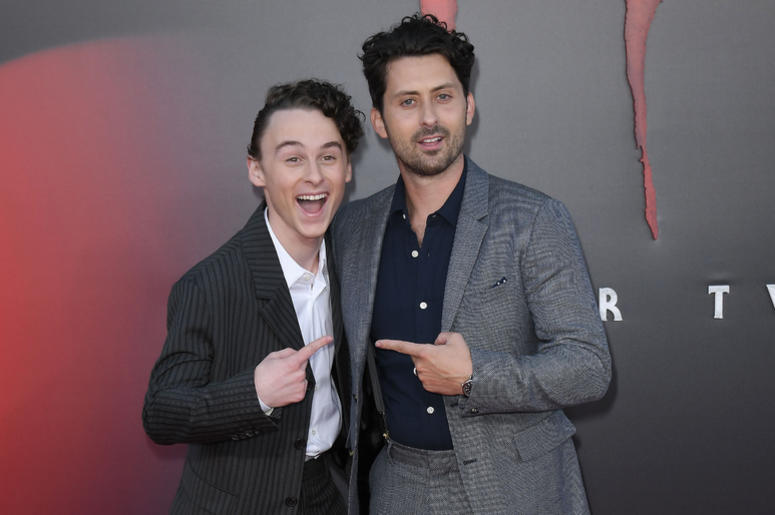 (L-R) Wyatt Oleff and Andy Bean at the Warner Bros. Pictures' IT CHAPTER TWO Premiere held at the Regency Village Theatre in Westwood, CA on Monday, August 26, 2019.