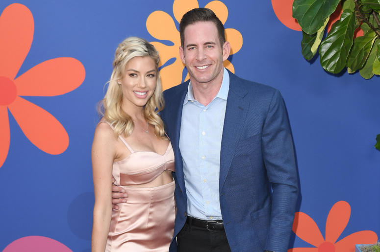 (L-R) Heather Rae Young and Tarek El Moussa at HGTV's A VERY BRADY RENOVATION Los Angeles Premiere held at The Garland Hotel in North Hollywood, CA on Thursday, September 5, 2019.