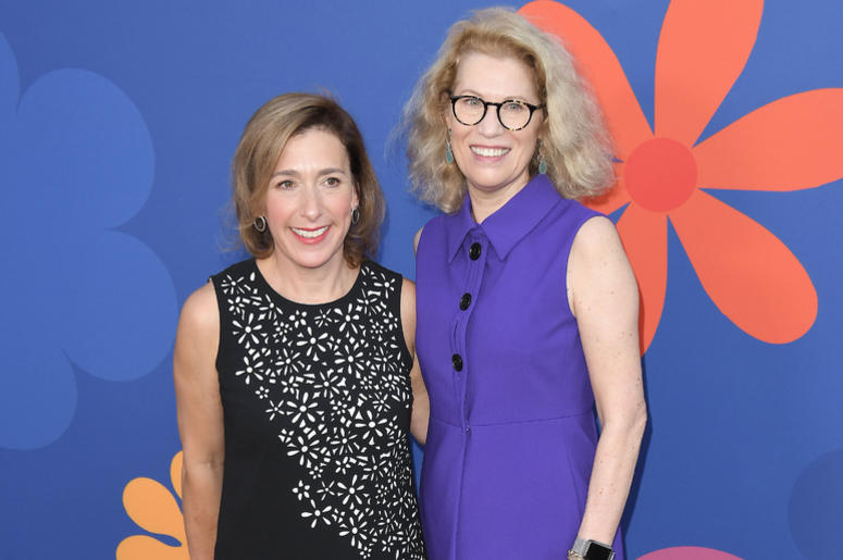 (L-R) Jane Latman and Kathleen Finch at HGTV's A VERY BRADY RENOVATION Los Angeles Premiere held at The Garland Hotel in North Hollywood, CA on Thursday, September 5, 2019.