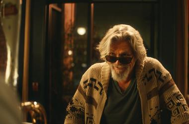 Stella Artois shows a scene from the company's Super Bowl spot with Jeff Bridges