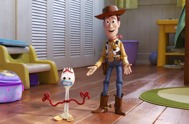 "Disney/Pixar shows a scene from the movie ""Toy Story 4."" ("
