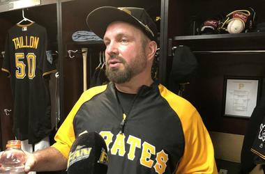 Garth Brooks with Pittsburgh Pirates