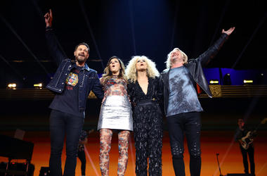 Jimi Westbrook, Karen Fairchild, Kimberly Schlapman, and Phillip Sweet of Little Big Town perform onstage