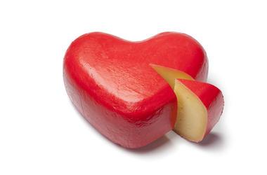 heart-shaped cheese