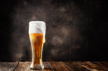 A pint of frosty beer