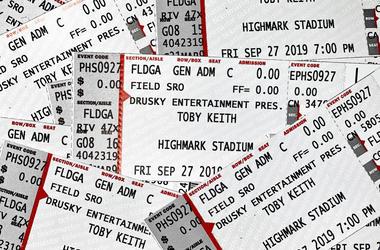 Toby Keith Ticket Drop