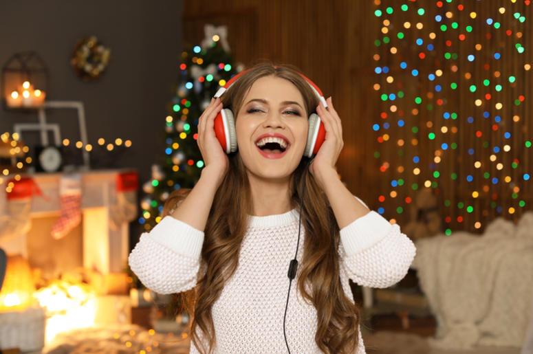 Woman Singing Christmas Songs