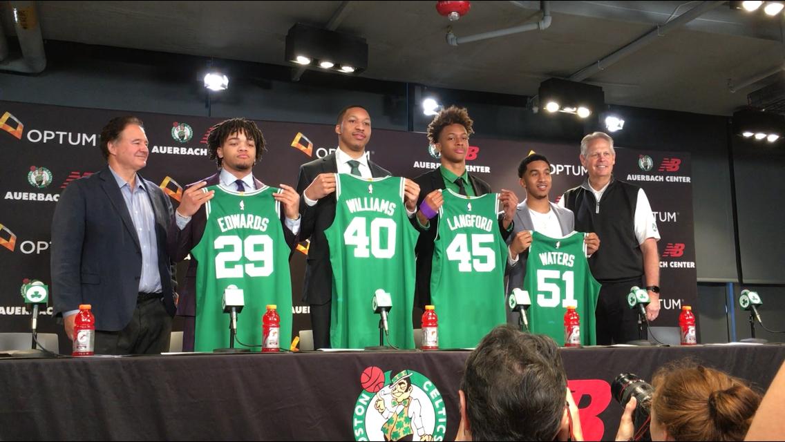Boston Celtics Rookies Already Winning Fans Over Weei