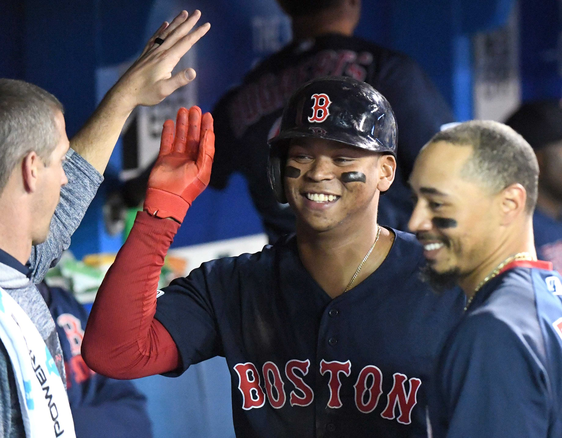 Who's swinging the lumber? Rafael Devers joins exclusive club