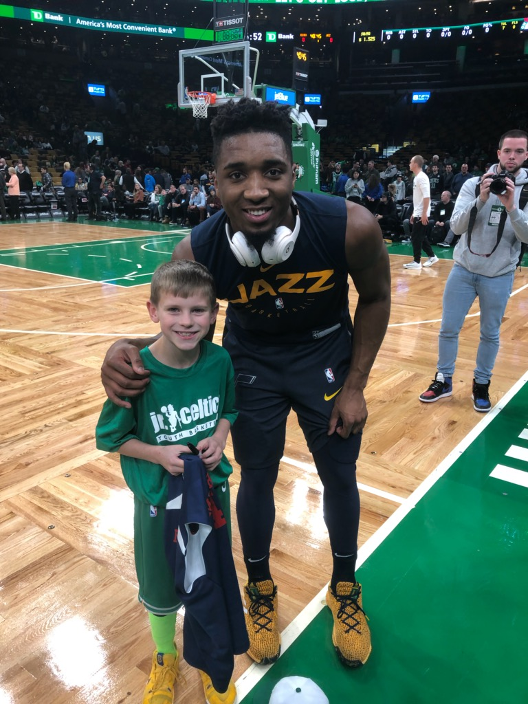 new york 3cc23 440fc The story behind the kid who rebounded for Donovan Mitchell ...