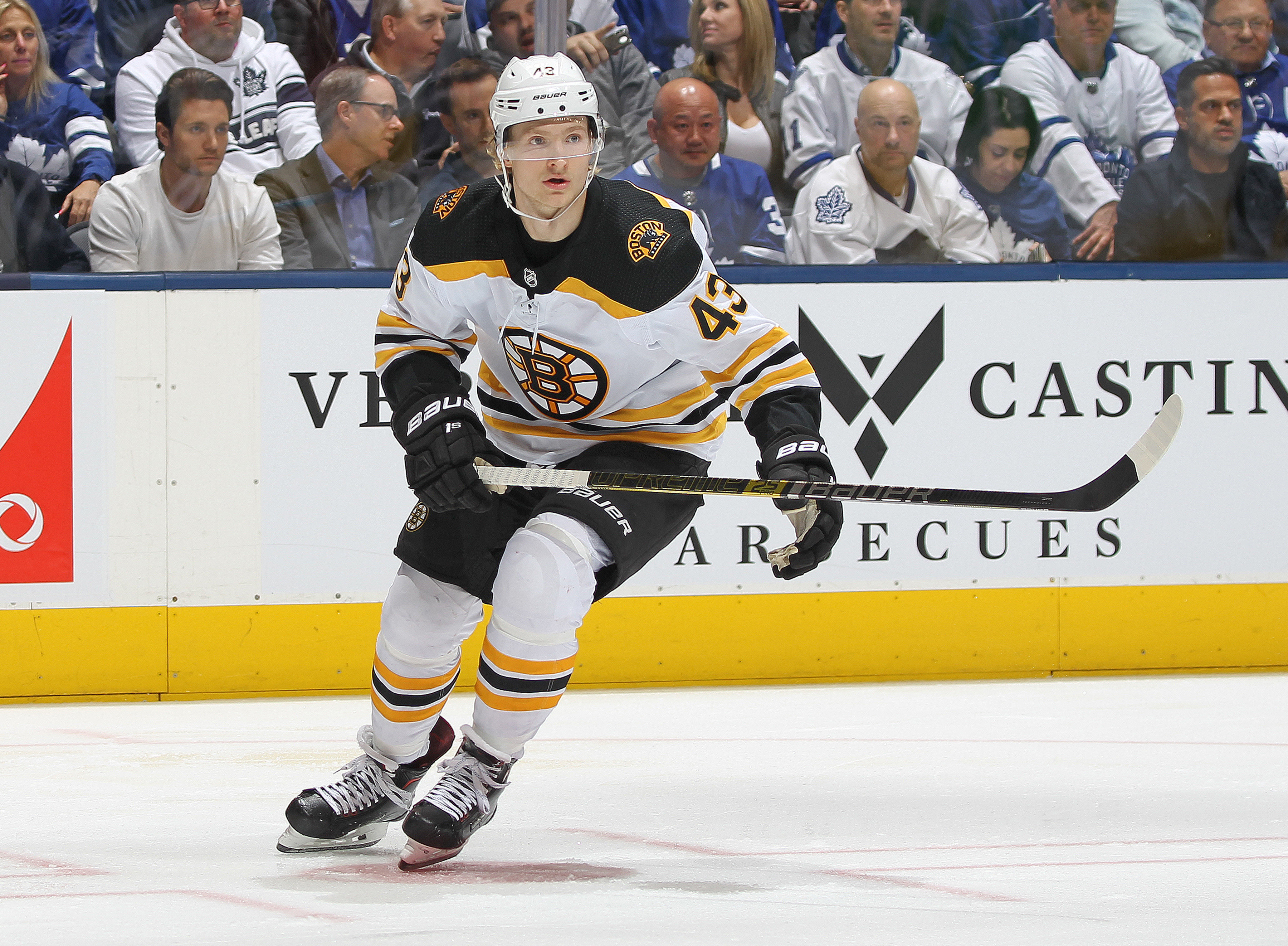 Danton Heinen, Jake DeBrusk among Bruins' bright spots in loss to