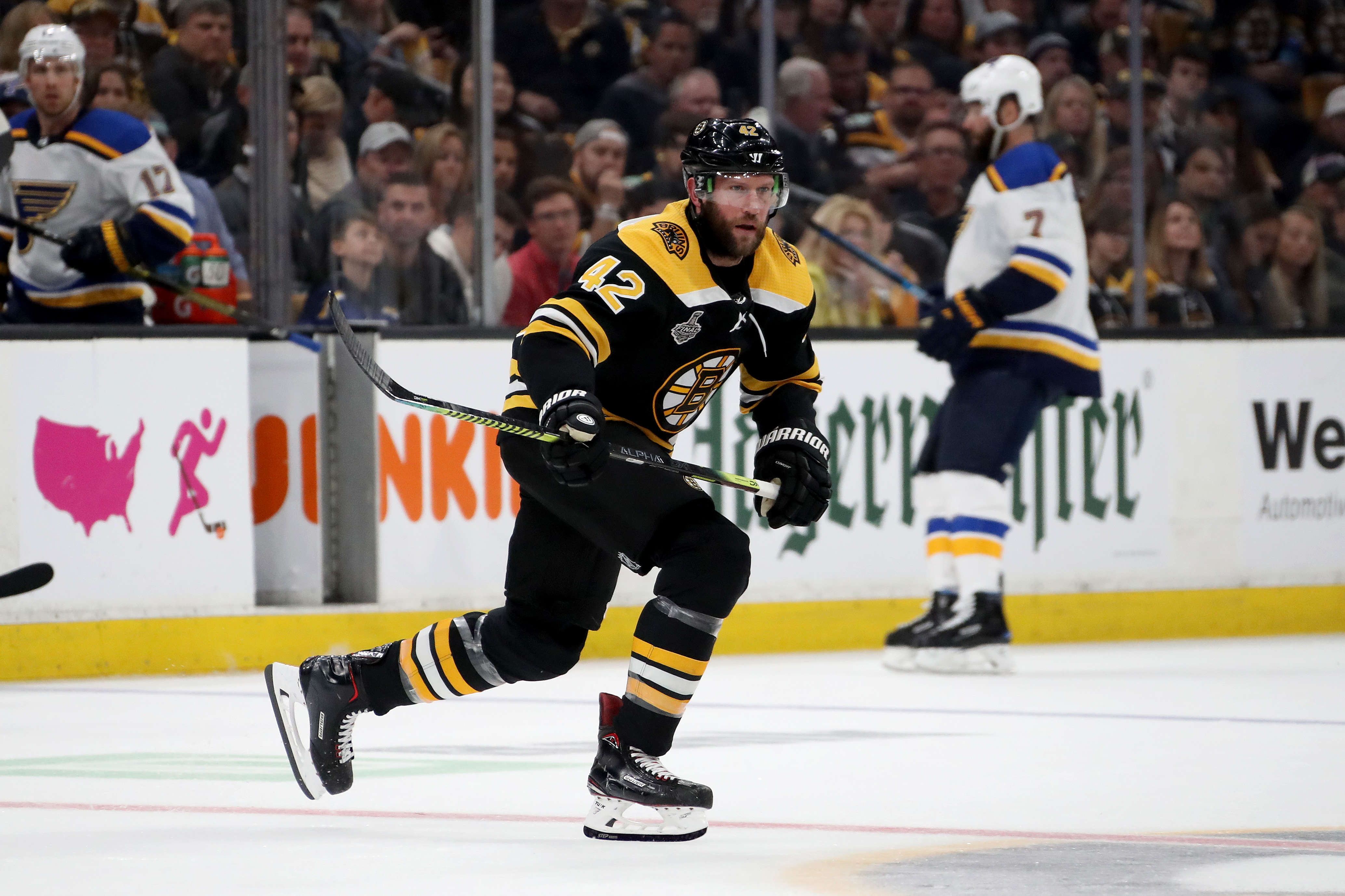 Bruins coach Bruce Cassidy must sit out David Backes in