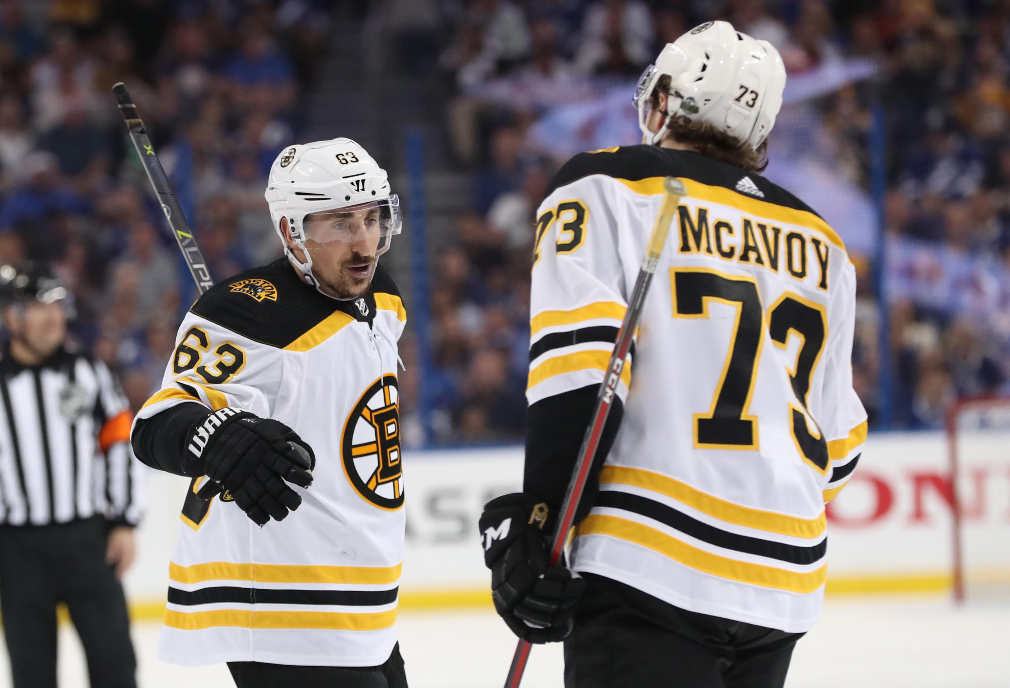 a090c32dc8e Brad Marchand s chat with Charlie McAvoy may be more a sign of Marchand s  emergence as a leader than a problem with McAvoy s punctuality