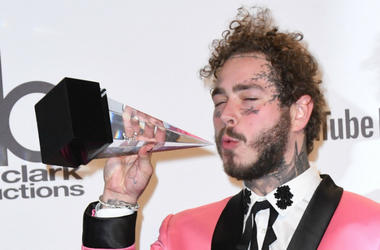 Post Malone. 2018 American Music Awards - Press Room held at the Microsoft Theater.