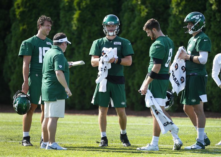 Sam Darnold in Jets camp
