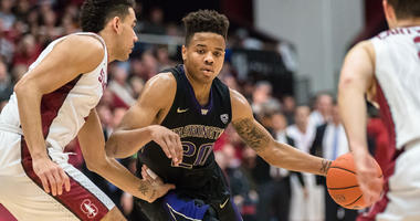 Washington Huskies guard Markelle Fultz drives against the Stanford Cardinal  on Jan. 14, 2017, at Maples Pavilion in Stanford, California.