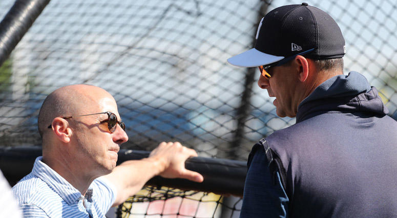 Brian Cashman and Aaron Boone