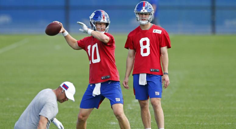 Eli Manning and Daniel Jones