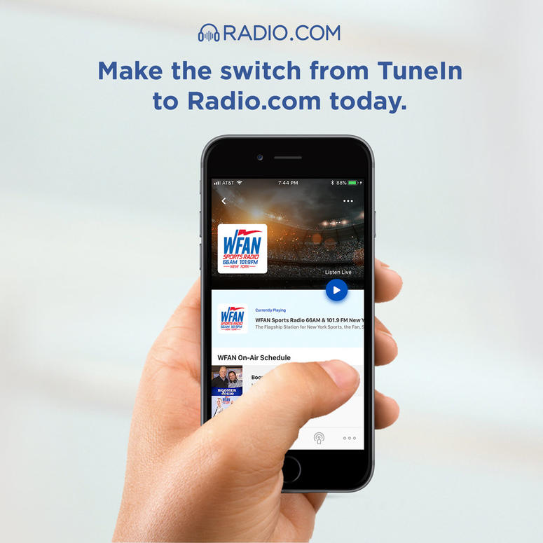 WFAN Will No Longer Be Available on the TuneIn App | WFAN Sports