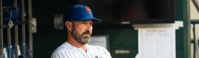 New York Mets manager Mickey Callaway (36) in the dugout prior to the game against the Arizona Diamondbacks at Citi Field.