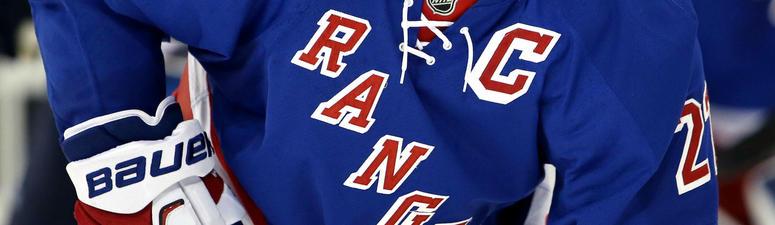 Nov 6, 2016; New York, NY, USA; New York Rangers defenseman Ryan McDonagh (27) against the Winnipeg Jets during the third period at Madison Square Garden.