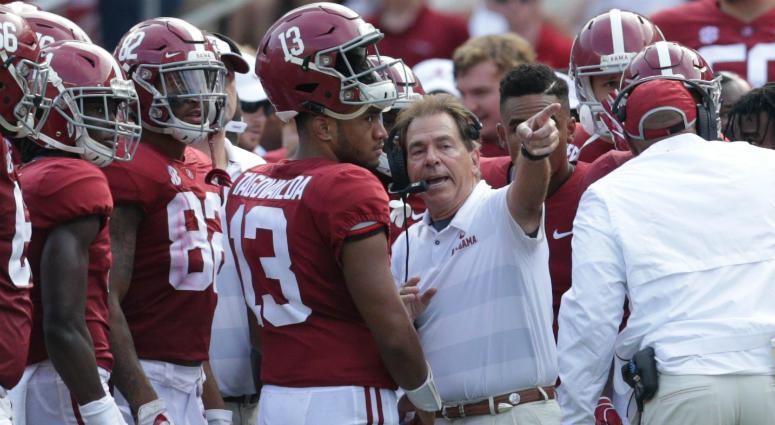 Tua Tagovailoa and Nick Saban