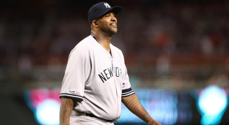 new arrival 836af 97431 Yankees' CC Sabathia Wants To Wear Yankees Cap If Inducted ...