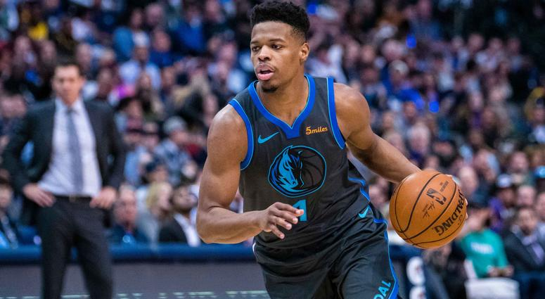 Jan 7, 2019; Dallas, TX, USA; Dallas Mavericks guard Dennis Smith Jr. (1) in action during the game between the Lakers and the Mavericks at the American Airlines Center. Mandatory Credit: Jerome Miron-USA TODAY Sports