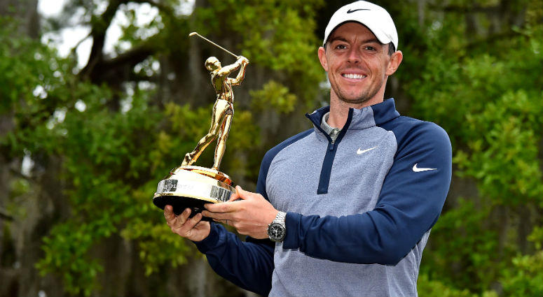 Rory McIlroy celebrate winning THE PLAYERS Championship golf tournament at TPC Sawgrass - Stadium Course.