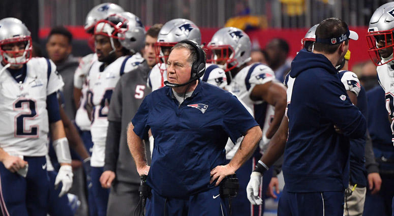d6aa9952c8c3a8 Patriots coach Bill Belichick on the sidelines during Super Bowl LIII on  Feb. 3,