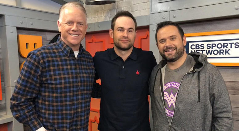 Andy Roddick poses with Boomer and Gio on Jan. 15, 2019.