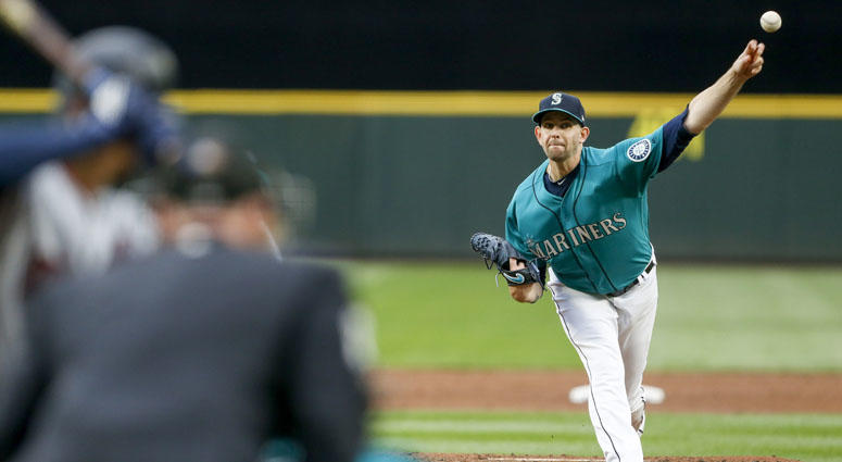 Mariners pitcher James Paxton (65) throws against the Minnesota Twins on May 25, 2018, at Safeco Field in Seattle.