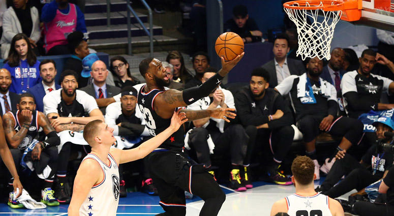 09c587af003 NBA All-Star Game: Team LeBron Rallies To Beat Team Giannis, 178-164 ...
