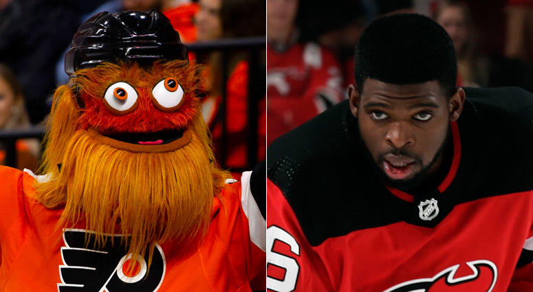 P.K. Subban and Gritty