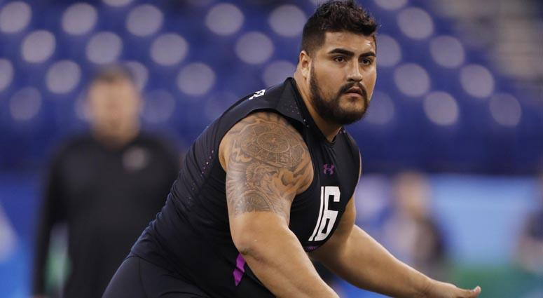 official photos 76266 aa3ff Giants Find Blocker For Barkley, Draft Guard Will Hernandez ...
