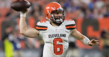 Baker Mayfield at FirstEnergy Stadium in Cleveland.