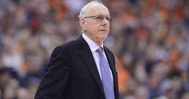 Jan 12, 2019; Syracuse, NY, USA;Syracuse Orange head coach Jim Boeheim watches the play on the court against the Georgia Tech Yellow Jackets in the first half at the Carrier Dome. Mandatory Credit: Mark Konezny-USA TODAY Sports