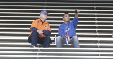 Dec 26, 2018; Dallas, TX, United States; Boise State Broncos fans in the stands after the game against the Boston College Eagles was cancelled in the 2018 SERVPRO First Responder Bowl at Cotton Bowl Stadium. Mandatory Credit: Tim Heitman-USA TODAY Sports