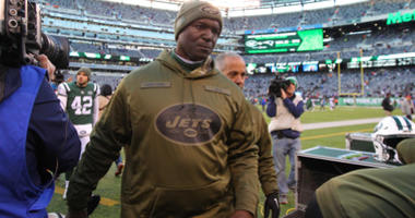 Nov 11, 2018; East Rutherford, NJ, USA; New York Jets head coach Todd Bowles leaves the field after a game against the Buffalo Bills at MetLife Stadium. Mandatory Credit: Brad Penner-USA TODAY Sports