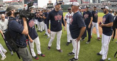 The Braves celebrate
