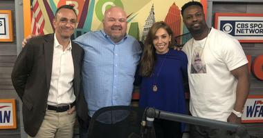 Hank Azaria In Studio With Carlin, Maggie & Bart