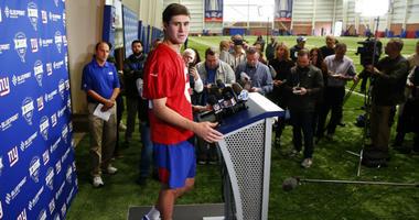 Daniel Jones at Giants rookie camp