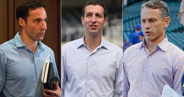 From left, Mike Chernoff, David Stearns and Jed Hoyer.